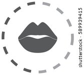 lips vector icon   Shutterstock .eps vector #589939415