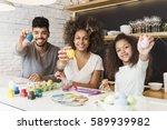 happy african american family... | Shutterstock . vector #589939982