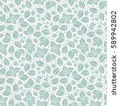 hand drawn vector seamless... | Shutterstock .eps vector #589942802