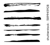 grunge brush strokes texture... | Shutterstock . vector #589945928