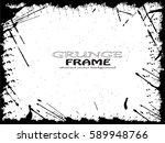 grunge frame. vector... | Shutterstock .eps vector #589948766