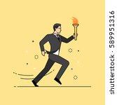 line flat design vector... | Shutterstock .eps vector #589951316