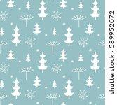 christmas background  seamless...   Shutterstock . vector #589952072