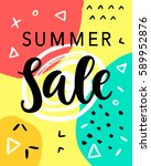 summer sale banner template... | Shutterstock .eps vector #589952876
