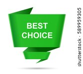 speech bubble best choice... | Shutterstock . vector #589959305