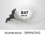 bat out of particles. bat...   Shutterstock .eps vector #589962542