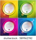 abstract vector backgrounds set ... | Shutterstock .eps vector #589962782