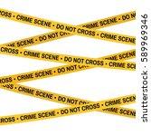 crime scene yellow tape  police ... | Shutterstock .eps vector #589969346