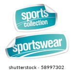 sportswear collection stickers... | Shutterstock .eps vector #58997302