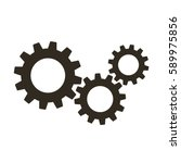 Gears On A White Background....