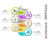 creative infographic design... | Shutterstock .eps vector #589976162