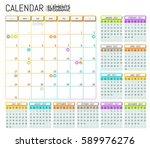 modern calendar 2017 template... | Shutterstock .eps vector #589976276