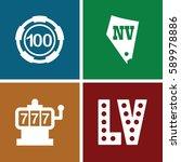 jackpot icons set. set of 4... | Shutterstock .eps vector #589978886