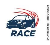 car racing logo template  ... | Shutterstock .eps vector #589990505