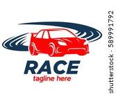 car racing logo template  ... | Shutterstock .eps vector #589991792