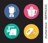 kitchen appliances flat design...   Shutterstock .eps vector #589992332