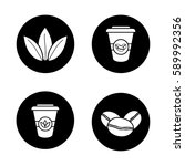 tea and coffee icons set.... | Shutterstock .eps vector #589992356