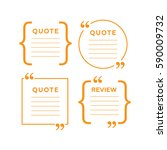 quote comment template. quote... | Shutterstock .eps vector #590009732