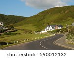road in the mountains. sunny...   Shutterstock . vector #590012132