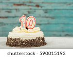 white and chocolate cake with...   Shutterstock . vector #590015192