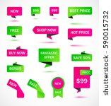 vector stickers  price tag ... | Shutterstock .eps vector #590015732