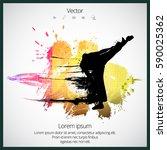 karate kick   Shutterstock .eps vector #590025362
