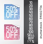 two color vector stickers with...