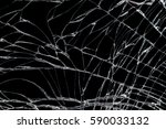 cracked screen damaged on black ... | Shutterstock . vector #590033132