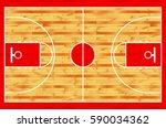 hardwood textured basketball... | Shutterstock .eps vector #590034362