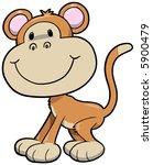 monkey vector illustration | Shutterstock .eps vector #5900479