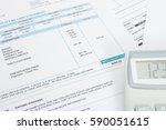 unpaid utility bill and... | Shutterstock . vector #590051615