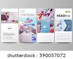 flyers set  modern banners....
