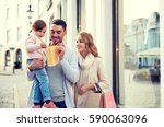 sale  consumerism and people... | Shutterstock . vector #590063096