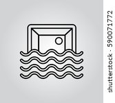 water polo outline icon | Shutterstock .eps vector #590071772