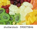 multicolor dried fruits... | Shutterstock . vector #590075846