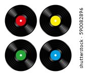 vinyl records four variations.... | Shutterstock .eps vector #590082896