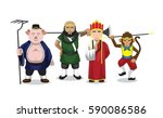 journey to the west character... | Shutterstock .eps vector #590086586