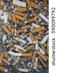 Small photo of A lot of Cigarette butts. smoke dangerously for healthy .reason of lung cancer.