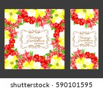 romantic invitation. wedding ... | Shutterstock .eps vector #590101595