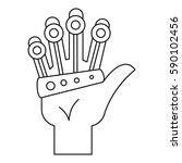 vr manipulator icon. outline... | Shutterstock .eps vector #590102456