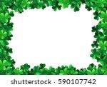 saint patricks day background... | Shutterstock .eps vector #590107742
