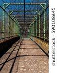 steel gate walkway. walkway... | Shutterstock . vector #590108645