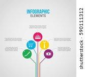 business concept timeline.... | Shutterstock .eps vector #590111312