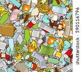 garbage texture. rubbish... | Shutterstock .eps vector #590116796