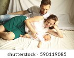family happiness concept  ... | Shutterstock . vector #590119085