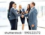 business meeting business... | Shutterstock . vector #590122172