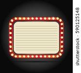 shining retro square banner  ... | Shutterstock .eps vector #590125148