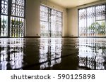 water damage inside a house | Shutterstock . vector #590125898