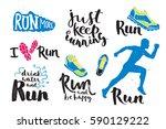 running man marathon logo... | Shutterstock .eps vector #590129222