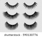 lashes set. false eyelashes... | Shutterstock .eps vector #590130776